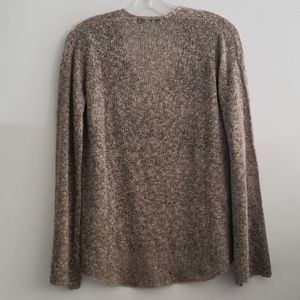Zara Sweaters - Zara Knit V-Neck Brown & Black Sweater Size S